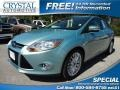 2012 Frosted Glass Metallic Ford Focus SEL Sedan  photo #1