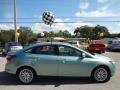 2012 Frosted Glass Metallic Ford Focus SEL Sedan  photo #9