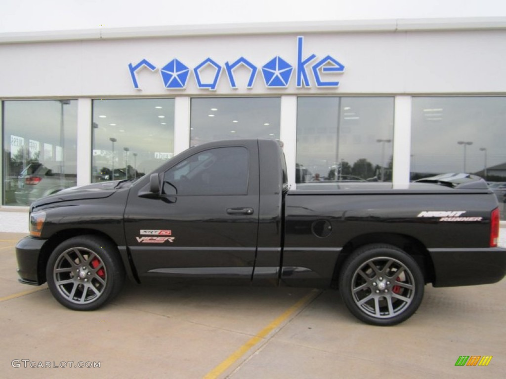 2006 Ram 1500 SRT-10 Night Runner Regular Cab - Black / Medium Slate Gray photo #1