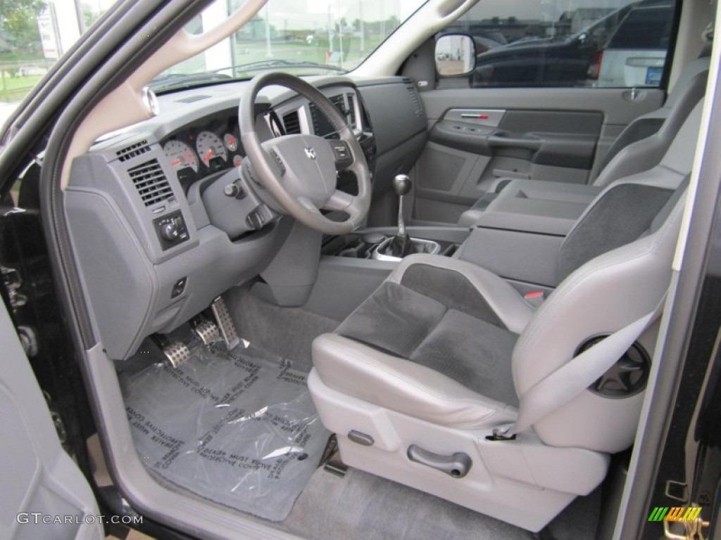 Medium Slate Gray Interior 2006 Dodge Ram 1500 Srt 10 Night Runner Regular Cab Photo 71533224
