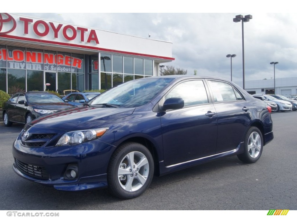 2013 nautical blue metallic toyota corolla s 71531278 car color galleries. Black Bedroom Furniture Sets. Home Design Ideas