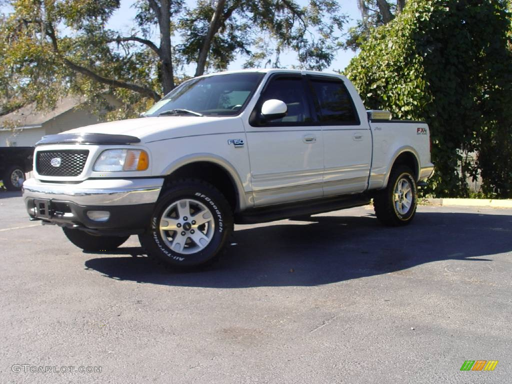 2003 oxford white ford f150 lariat fx4 off road supercrew 4x4 664389 car color. Black Bedroom Furniture Sets. Home Design Ideas