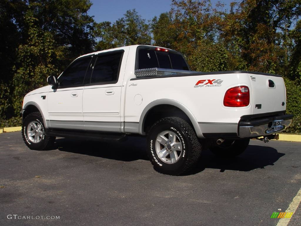 2003 oxford white ford f150 lariat fx4 off road supercrew 4x4 664389 photo 3. Black Bedroom Furniture Sets. Home Design Ideas