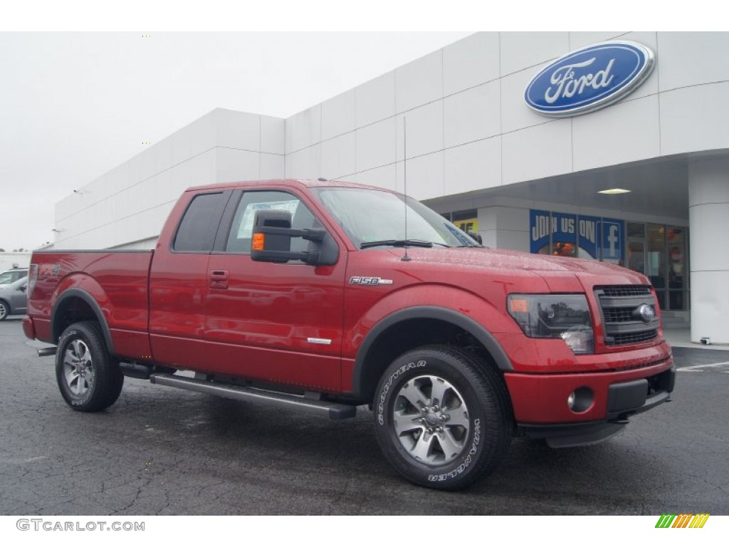 2013 ruby red metallic ford f150 fx4 supercab 4x4 71531271 car color galleries. Black Bedroom Furniture Sets. Home Design Ideas