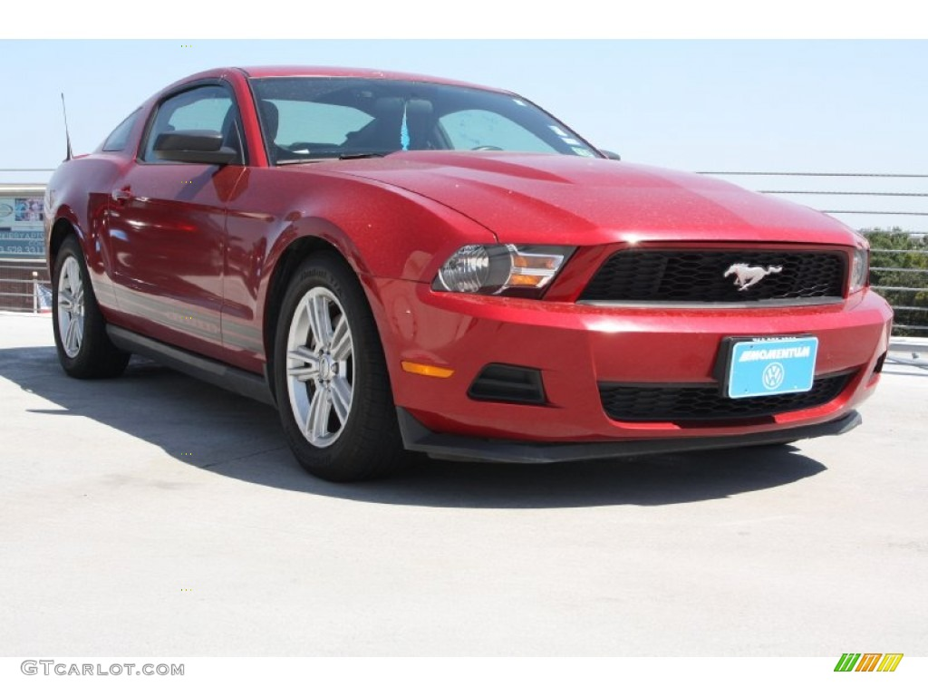 2011 Mustang V6 Coupe - Red Candy Metallic / Charcoal Black photo #1