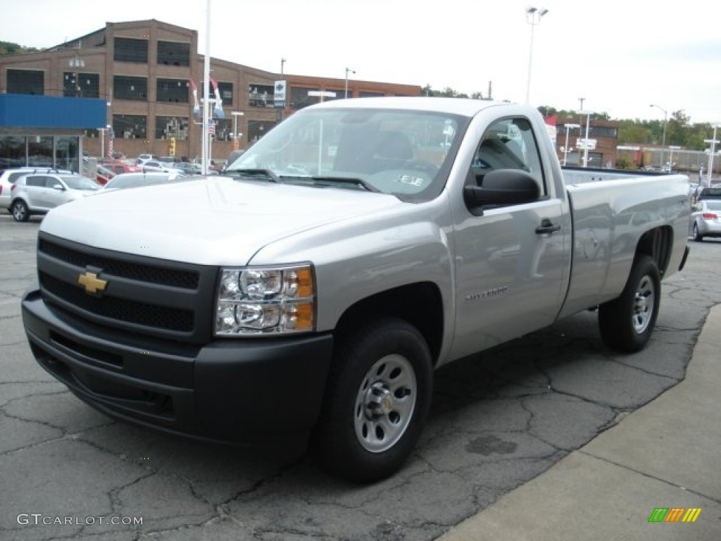 2012 Silverado 1500 Work Truck Regular Cab 4x4 - Silver Ice Metallic / Dark Titanium photo #4