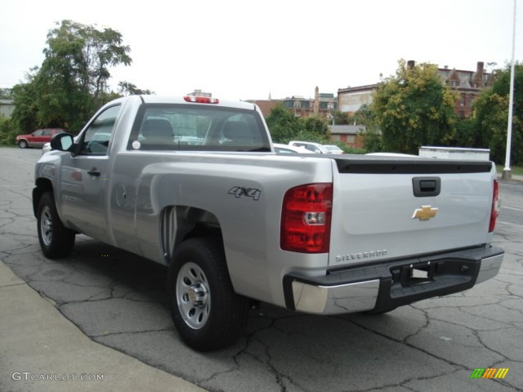 2012 Silverado 1500 Work Truck Regular Cab 4x4 - Silver Ice Metallic / Dark Titanium photo #6