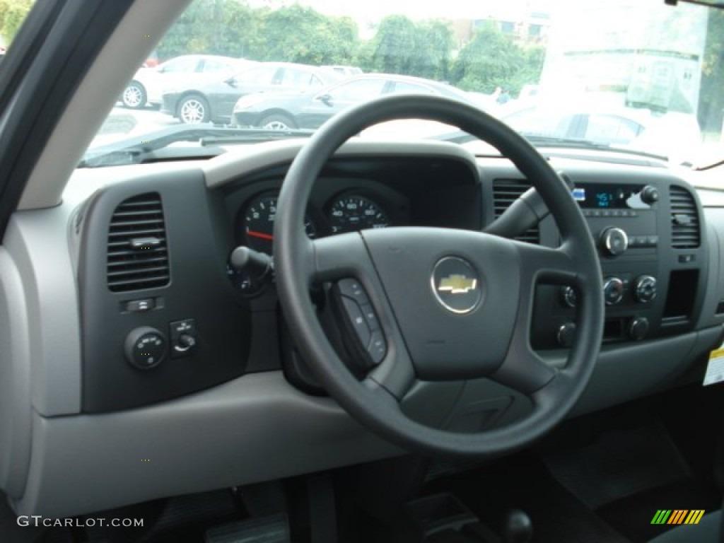 2012 Silverado 1500 Work Truck Regular Cab 4x4 - Silver Ice Metallic / Dark Titanium photo #10