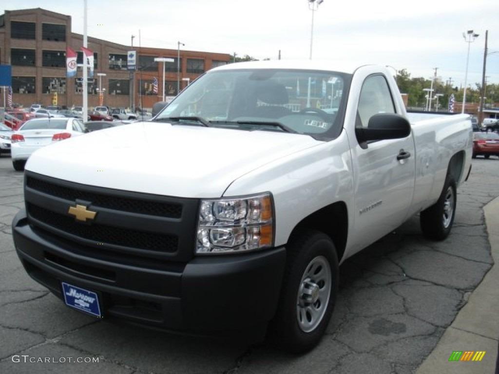 2012 Silverado 1500 Work Truck Regular Cab - Summit White / Dark Titanium photo #4