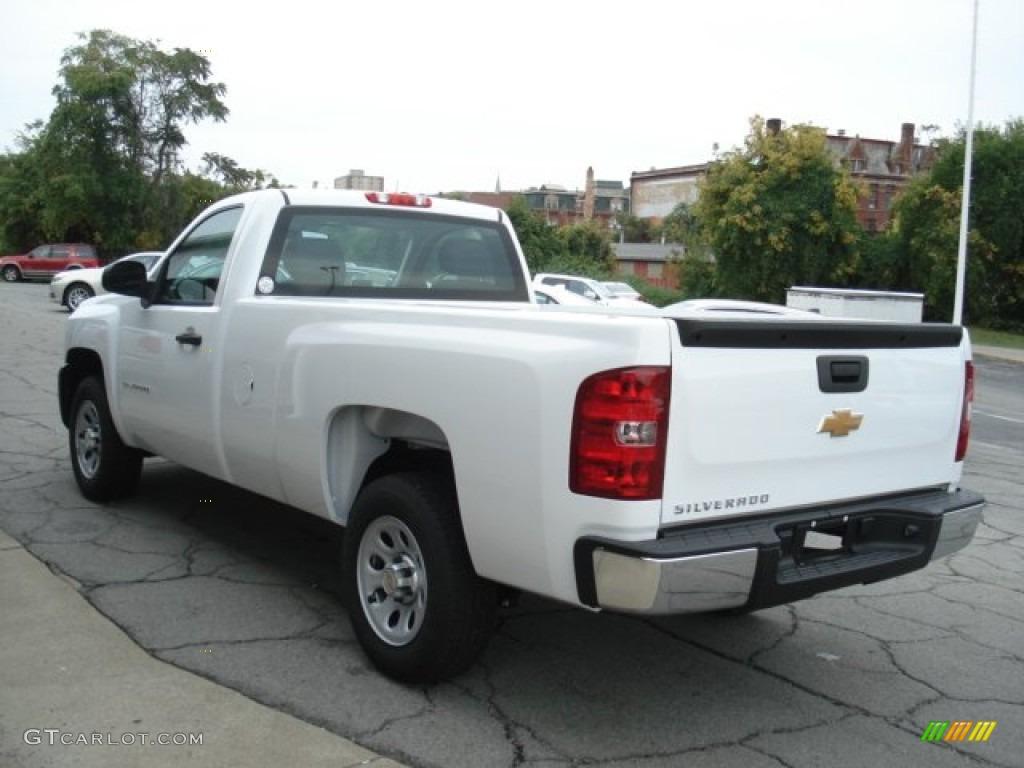2012 Silverado 1500 Work Truck Regular Cab - Summit White / Dark Titanium photo #6