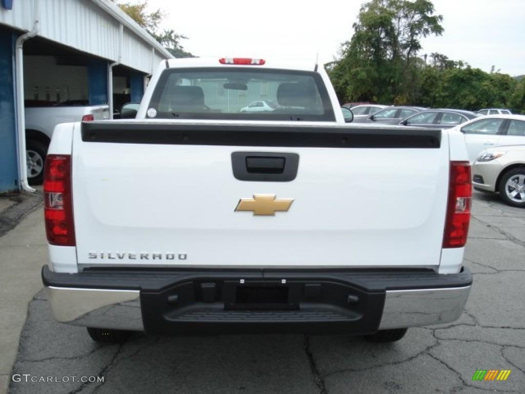2012 Silverado 1500 Work Truck Regular Cab - Summit White / Dark Titanium photo #7