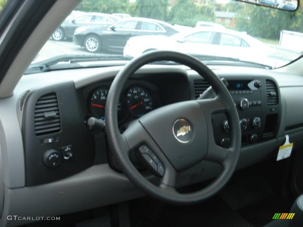 2012 Silverado 1500 Work Truck Regular Cab - Summit White / Dark Titanium photo #10