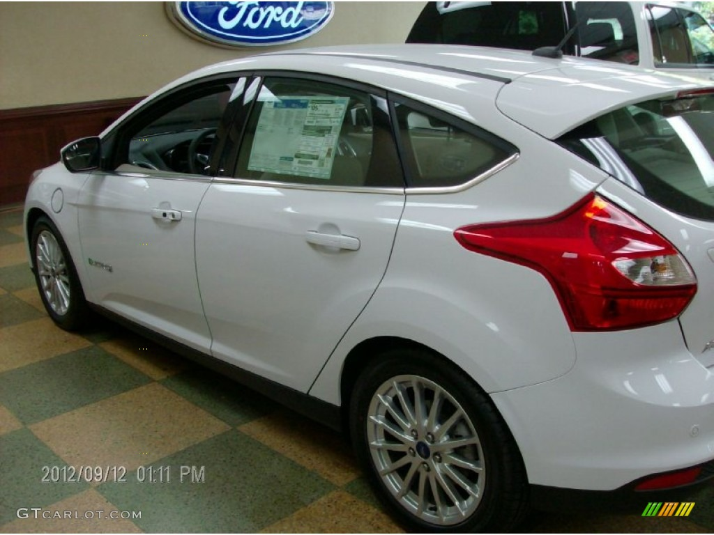 2012 Focus Electric - Oxford White / Electric Light Stone photo #1