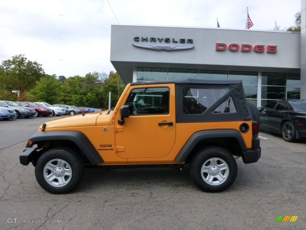 dozer yellow 2013 jeep wrangler sport 4x4 exterior photo 71566555. Cars Review. Best American Auto & Cars Review