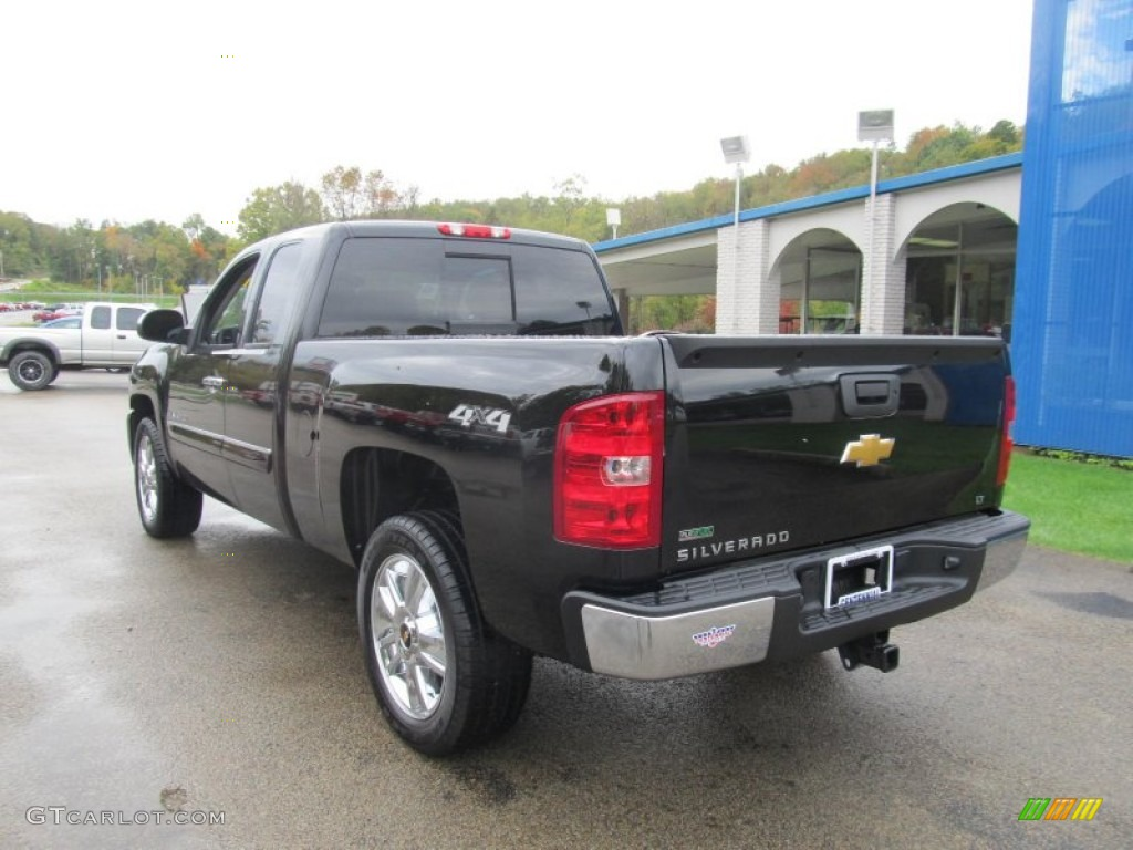2012 Silverado 1500 LT Extended Cab 4x4 - Black Granite Metallic / Ebony photo #3