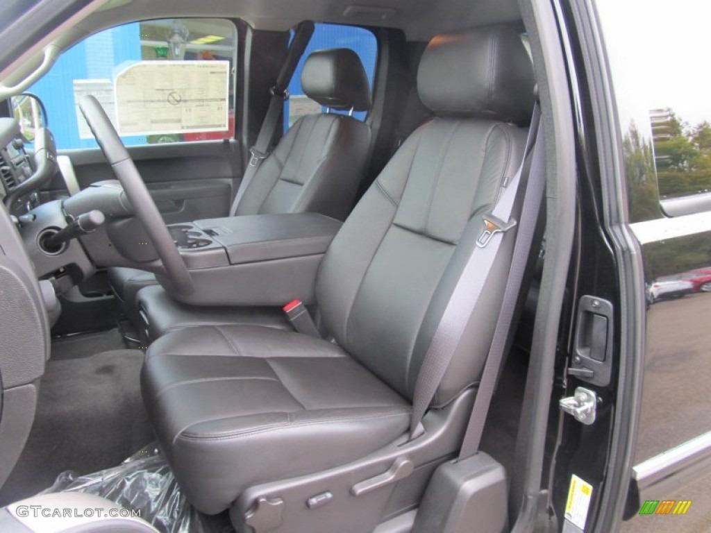 2012 Silverado 1500 LT Extended Cab 4x4 - Black Granite Metallic / Ebony photo #13