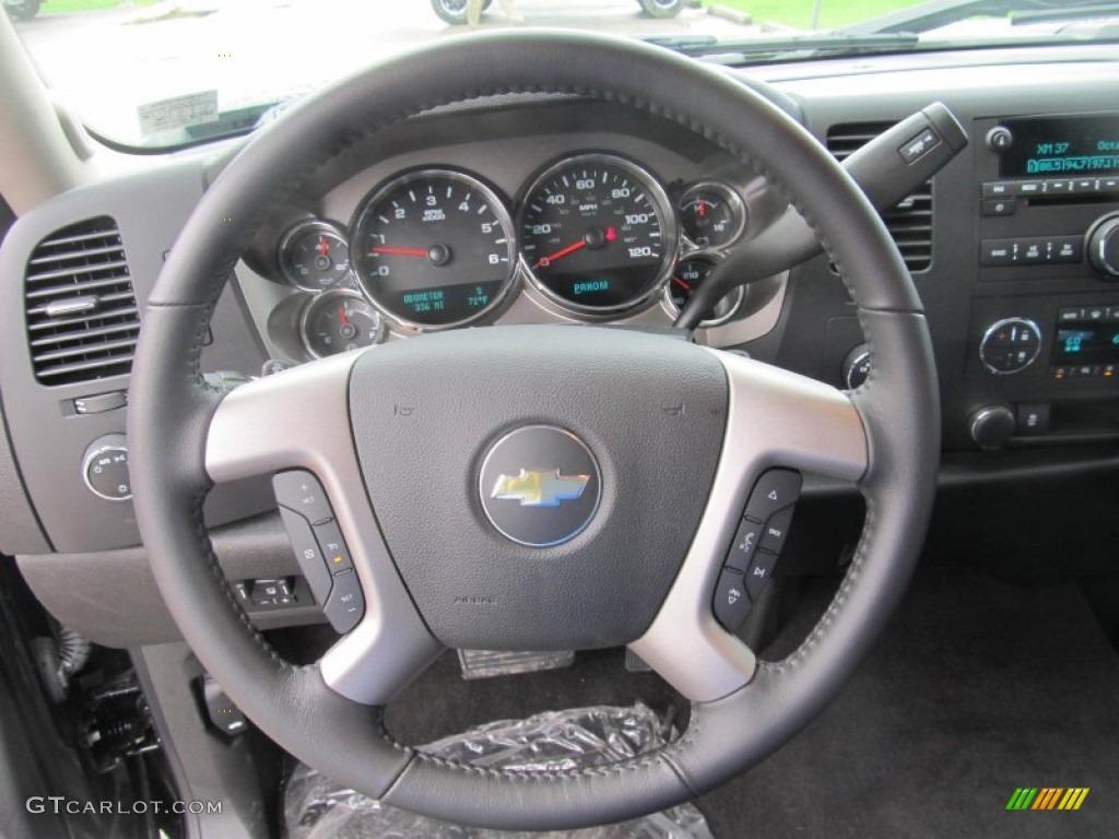 2012 Silverado 1500 LT Extended Cab 4x4 - Black Granite Metallic / Ebony photo #15