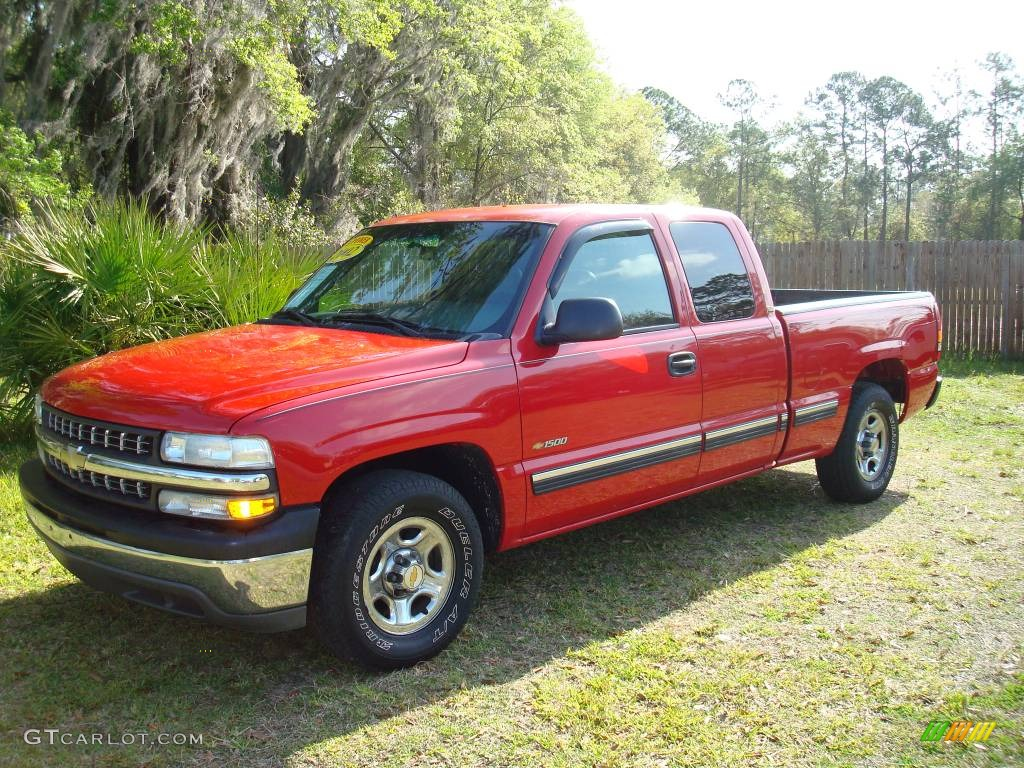 2002 victory red chevrolet silverado 1500 ls extended cab. Black Bedroom Furniture Sets. Home Design Ideas