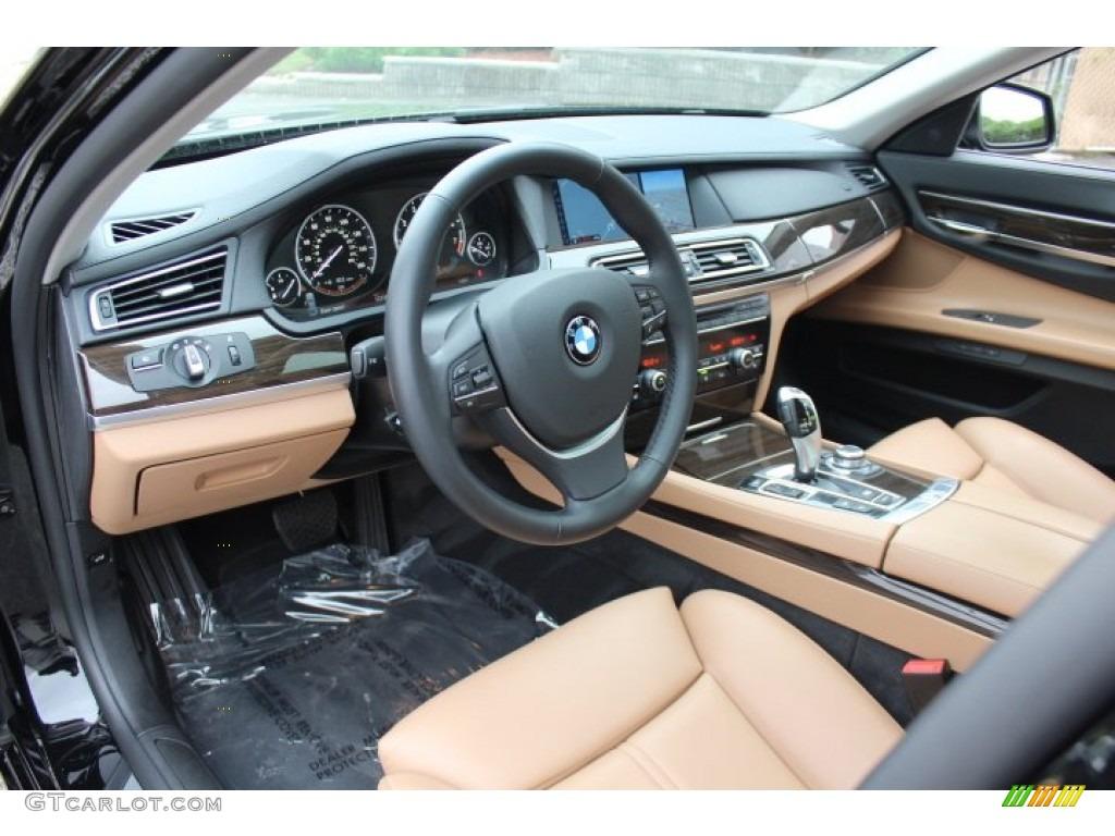Saddle Black Interior 2012 BMW 7 Series 750i XDrive Sedan Photo 71575175