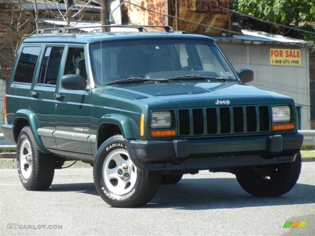 forest green pearlcoat 2001 jeep cherokee sport exterior photo. Cars Review. Best American Auto & Cars Review