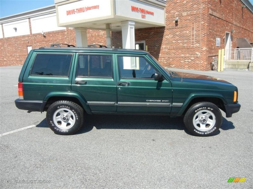 2000 Jeep Cherokee Sport Forest Green Pearlcoat 2001 Jeep Cherokee Sport Exterior ...