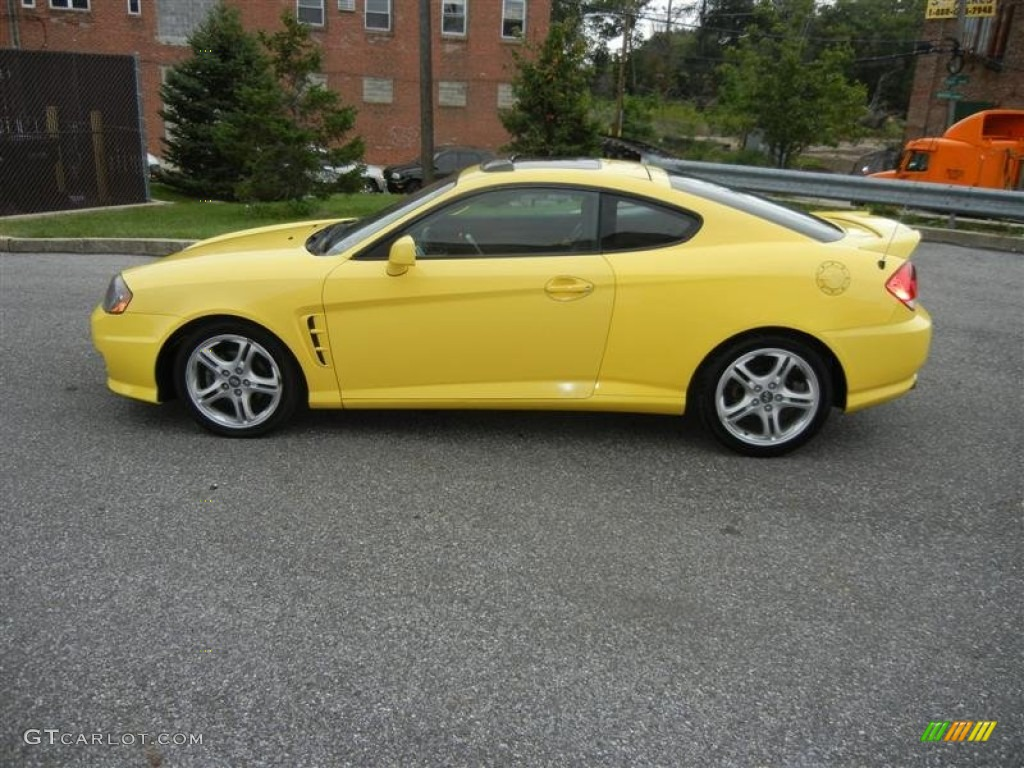 Sunburst Yellow 2006 Hyundai Tiburon Gt Exterior Photo