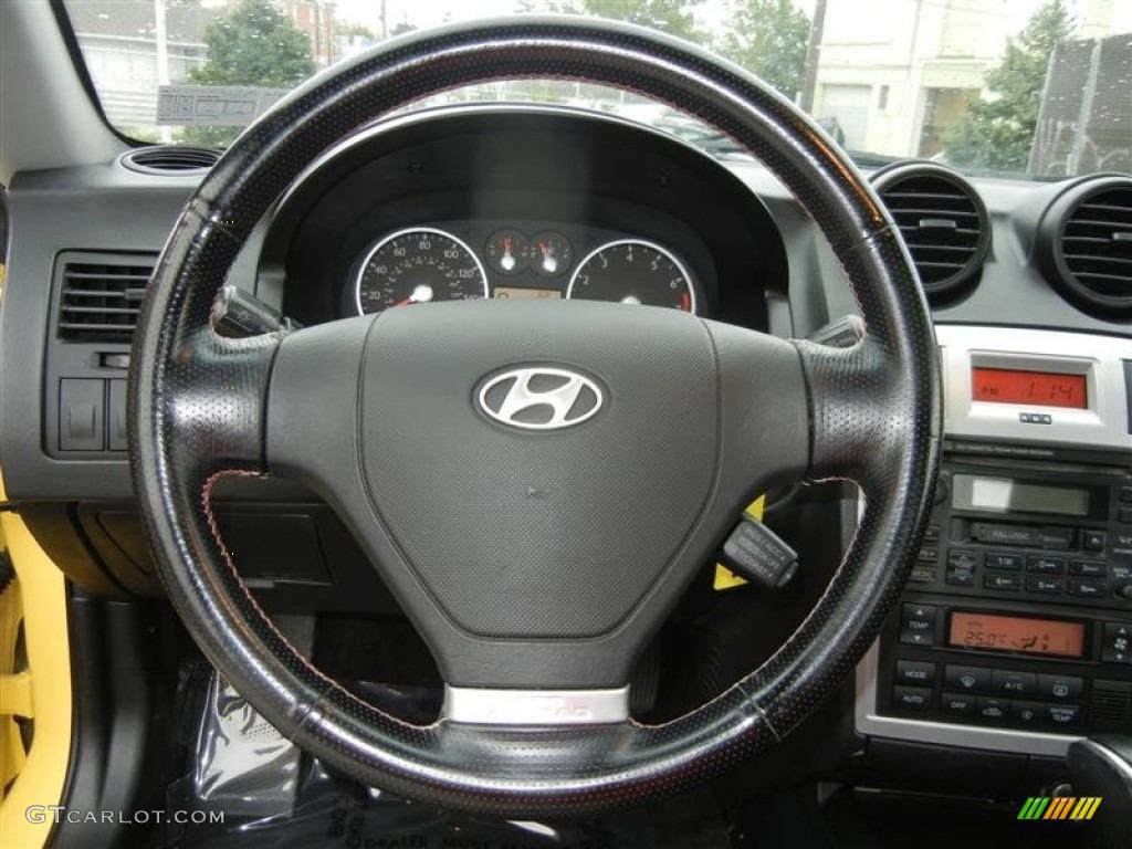 2006 hyundai tiburon gt black red steering wheel photo. Black Bedroom Furniture Sets. Home Design Ideas