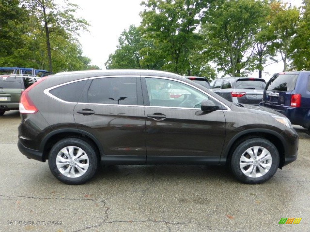 Kona Coffee Metallic 2013 Honda Cr V Ex L Awd Exterior Photo 71592399