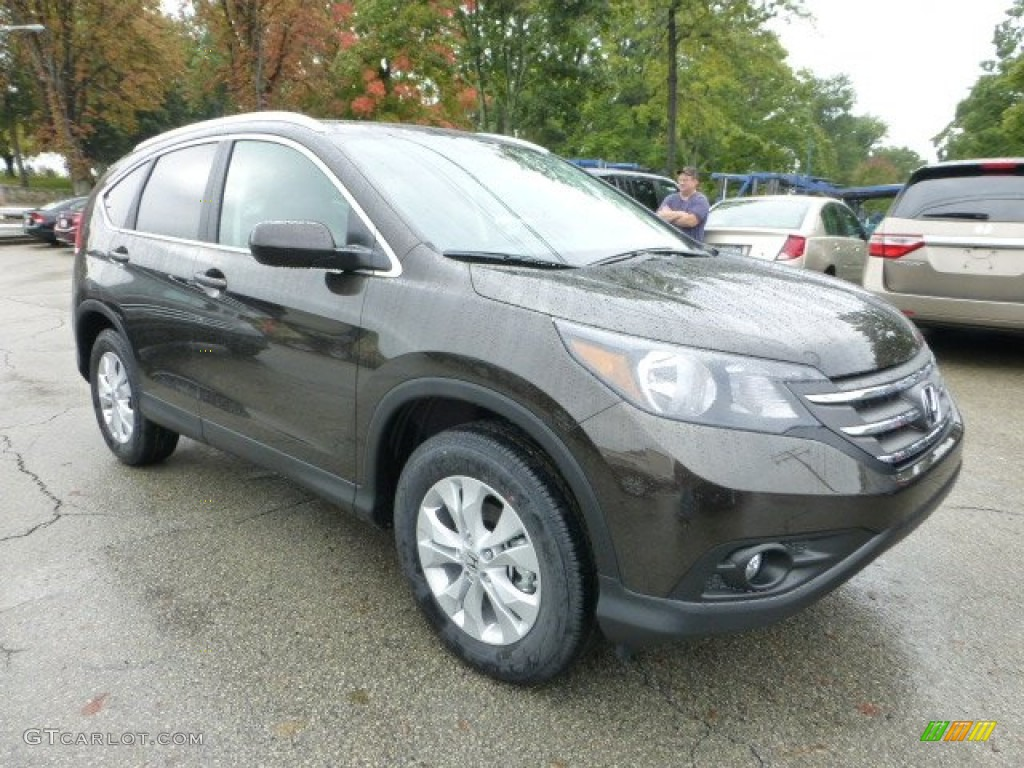 Kona Coffee Metallic 2013 Honda Cr V Ex L Awd Exterior Photo 71592405
