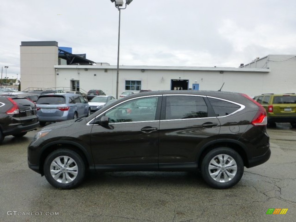 2013 CR-V EX AWD - Kona Coffee Metallic / Black photo #1