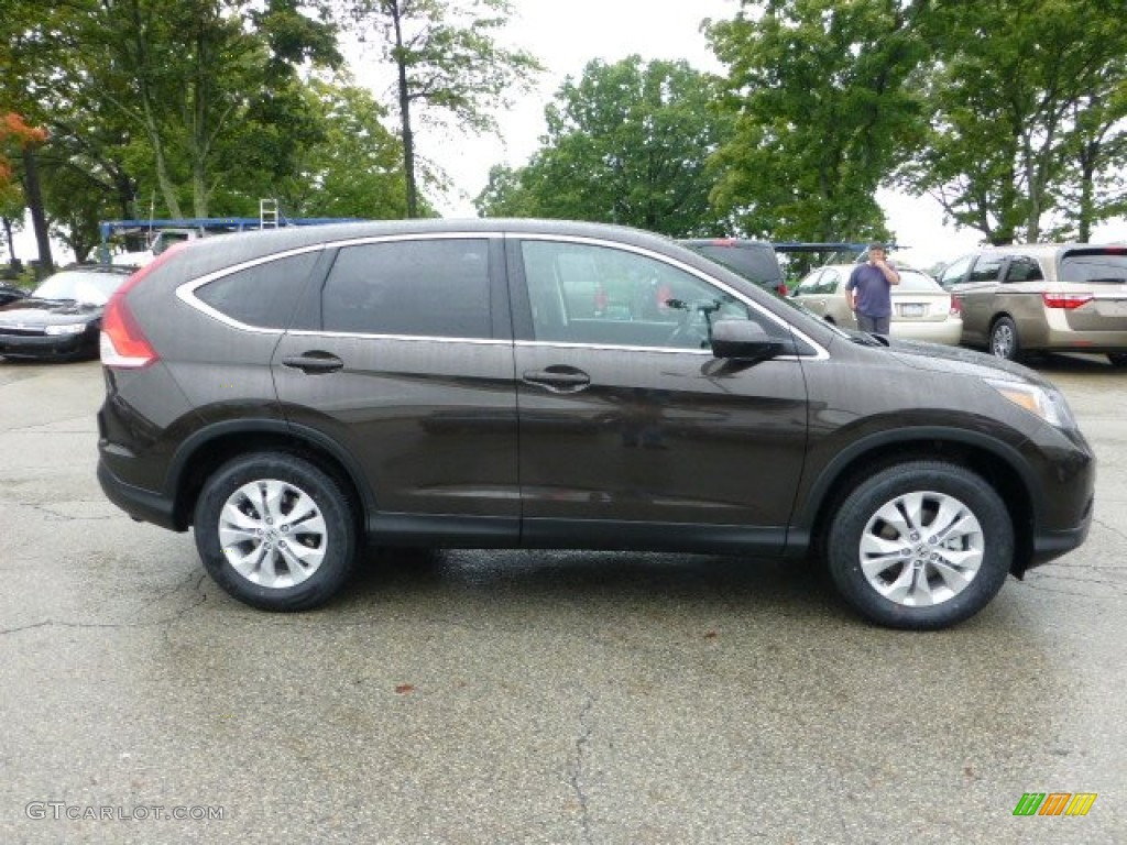 Kona Coffee Metallic 2013 Honda Cr V Ex Awd Exterior Photo 71592561