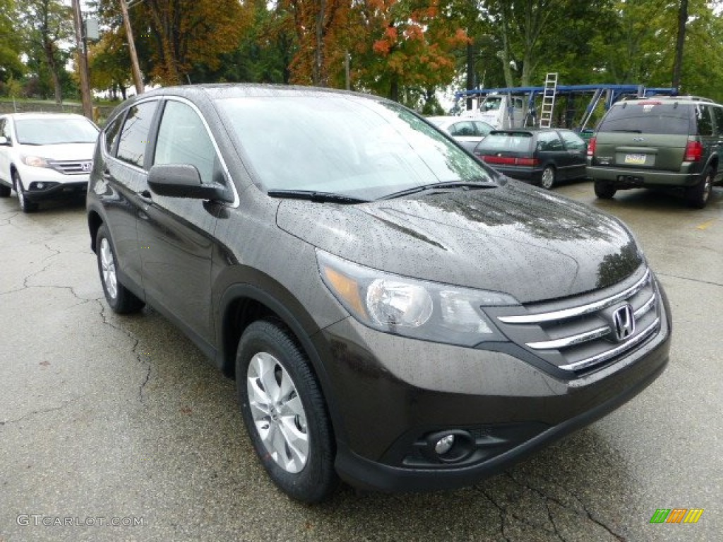 Kona Coffee Metallic 2013 Honda Cr V Ex Awd Exterior Photo 71592570