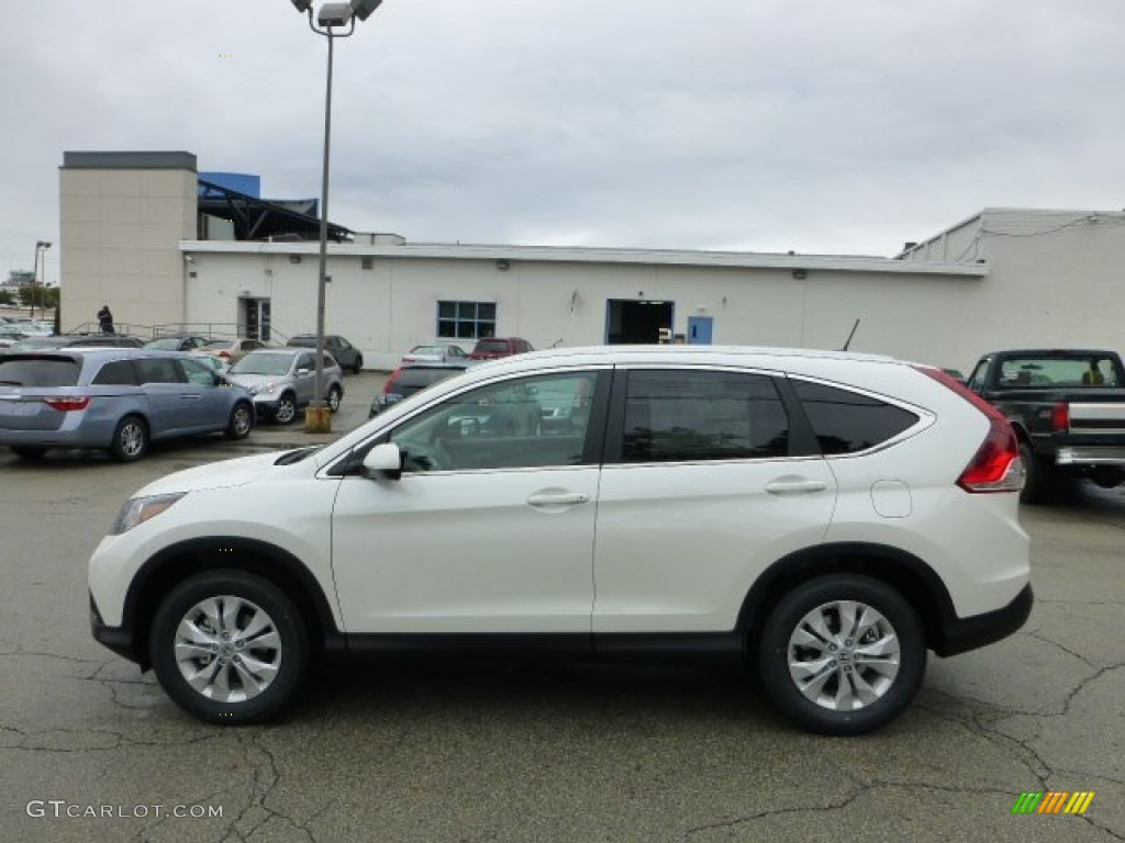 2013 white diamond pearl honda cr v ex l awd 71532059