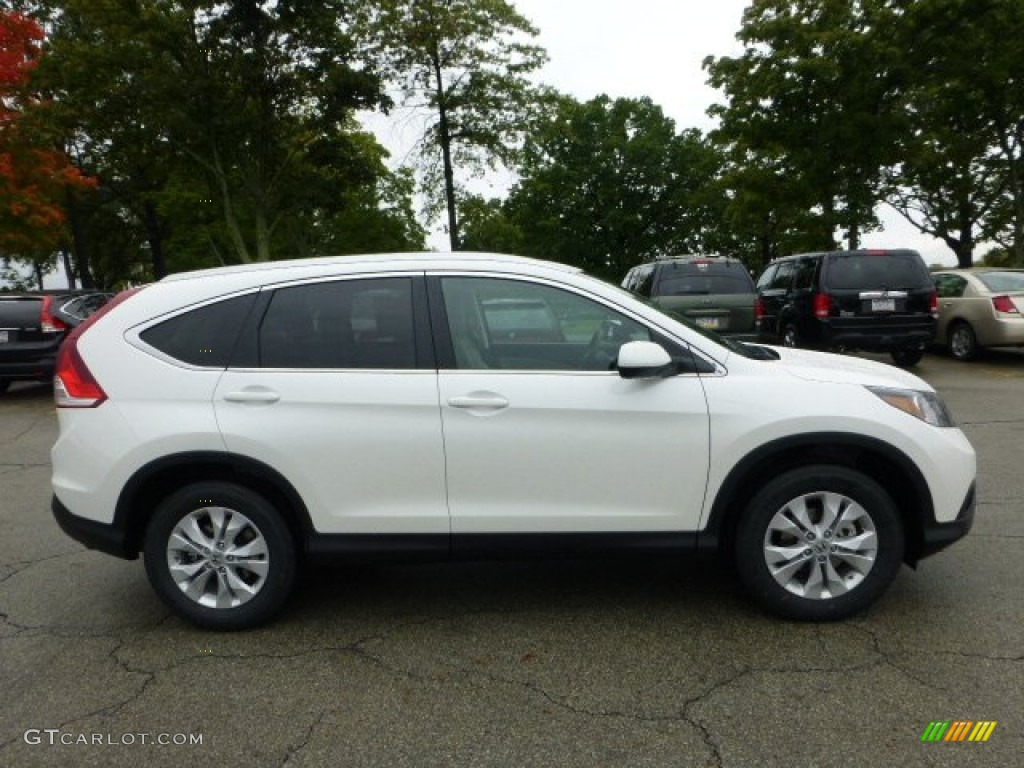 White diamond pearl 2013 honda cr v ex l awd exterior for Honda crv 2016 white