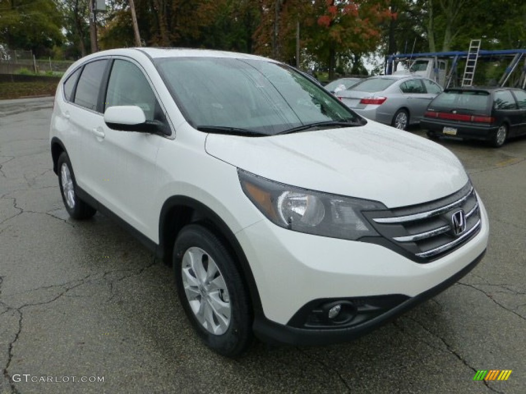 White Diamond Pearl 2013 Honda Cr V Ex Awd Exterior Photo 71593074
