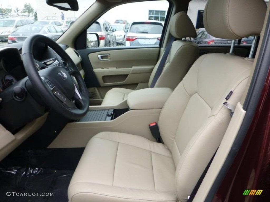 Beige Interior 2013 Honda Pilot Ex L 4wd Photo 71594109