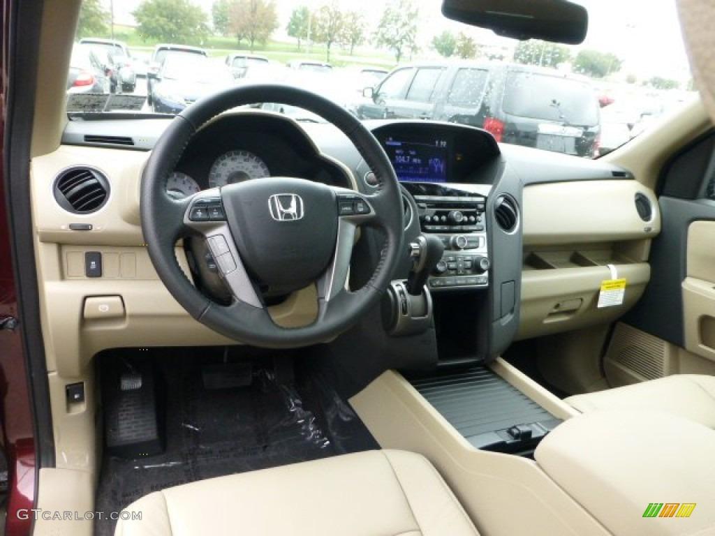 Beige Interior 2013 Honda Pilot Ex L 4wd Photo 71594136 Gtcarlot Com