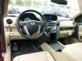 Beige 2013 Honda Pilot EX-L 4WD Interior