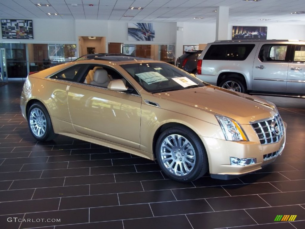 Summer Gold Metallic 2013 Cadillac Cts 4 Awd Coupe Exterior Photo