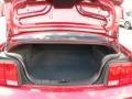 2005 Ford Mustang Red Leather Interior Trunk Photo