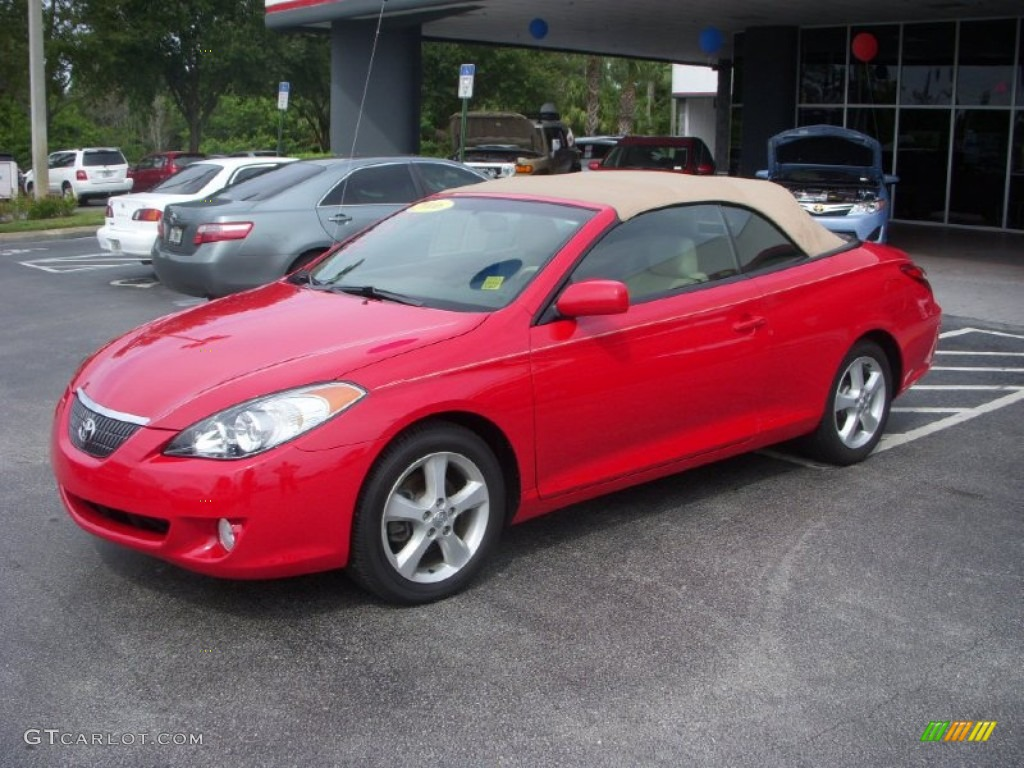 Absolutely Red 2006 Toyota Solara Sle V6 Convertible