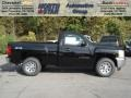 2013 Black Chevrolet Silverado 1500 Work Truck Regular Cab 4x4  photo #1