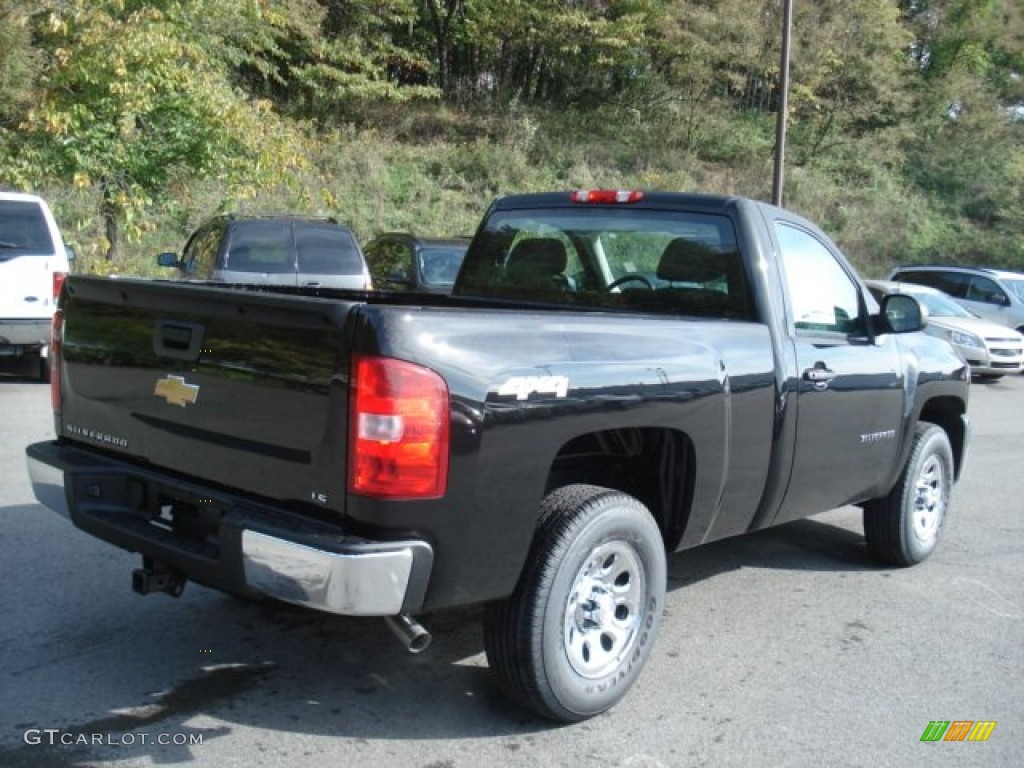 2013 Silverado 1500 Work Truck Regular Cab 4x4 - Black / Dark Titanium photo #8