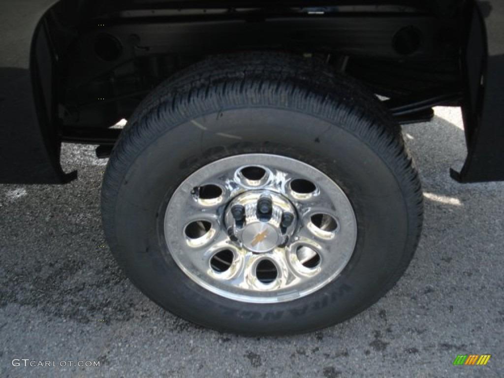 2013 Silverado 1500 Work Truck Regular Cab 4x4 - Black / Dark Titanium photo #9