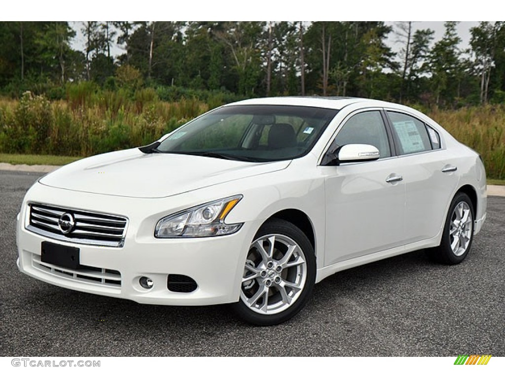 Pearl White 2013 Nissan Maxima 3 5 Sv Exterior Photo