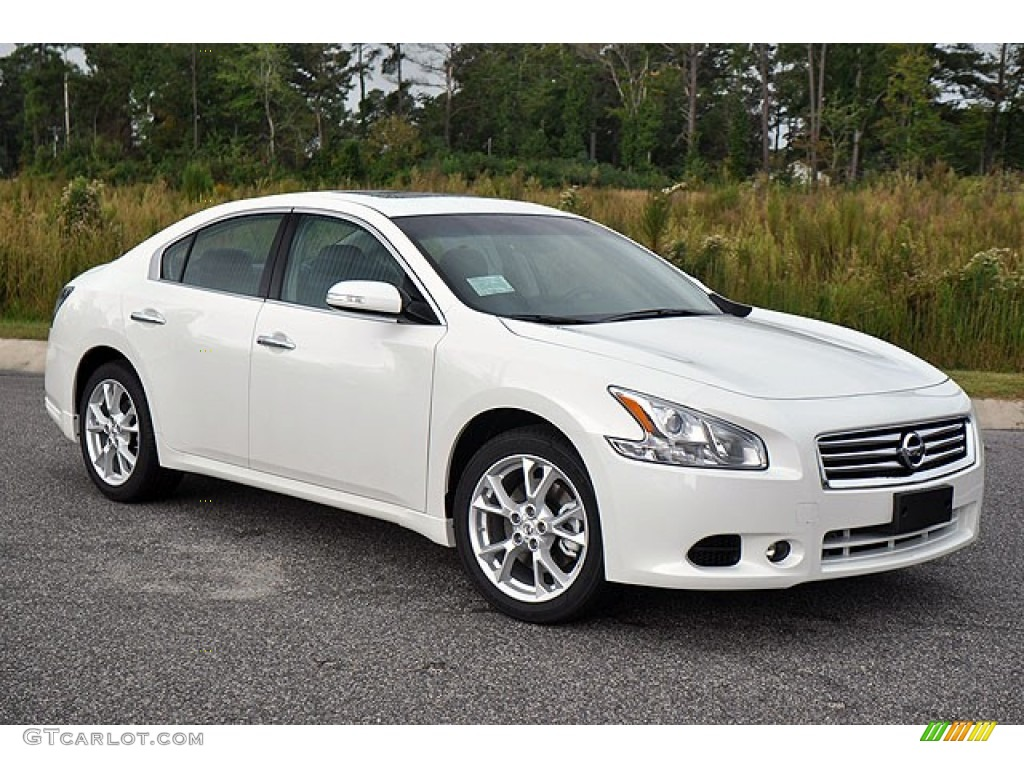 pearl white 2013 nissan maxima 3 5 sv exterior photo 71635087. Black Bedroom Furniture Sets. Home Design Ideas
