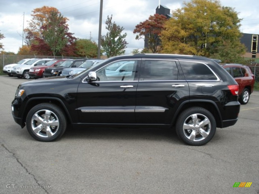 2013 brilliant black crystal pearl jeep grand cherokee overland