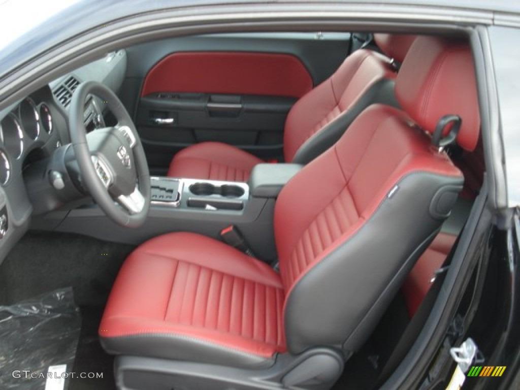 Radar Red Dark Slate Gray Interior 2013 Dodge Challenger Sxt Plus Photo 71639731