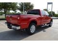 2012 Vermillion Red Ford F250 Super Duty Lariat Crew Cab 4x4  photo #5