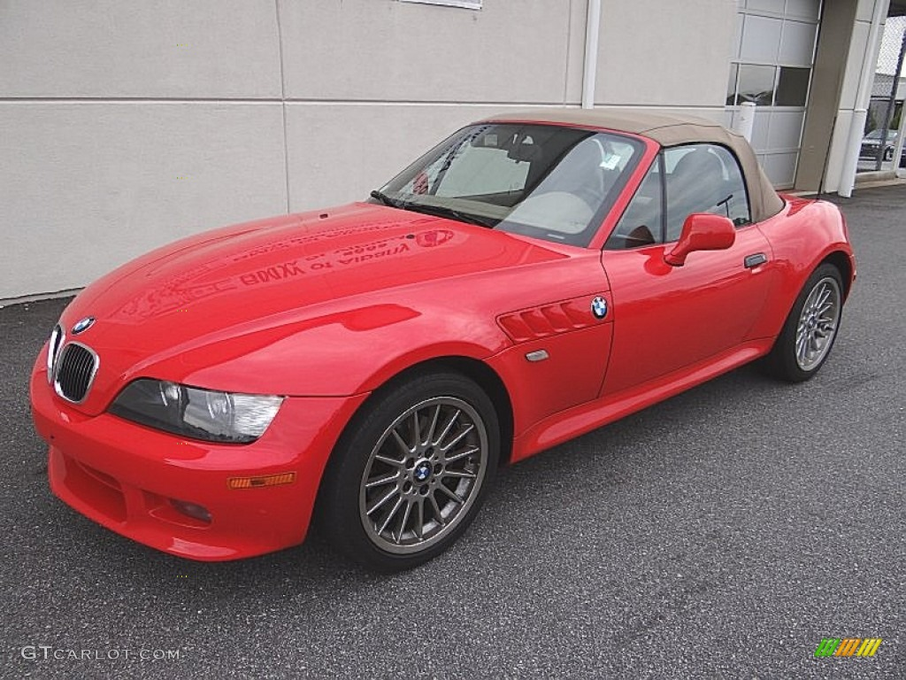 Bright Red 2001 Bmw Z3 3 0i Roadster Exterior Photo